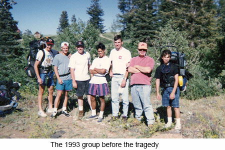 The 1993 Kolob Canyon group before the tragedy