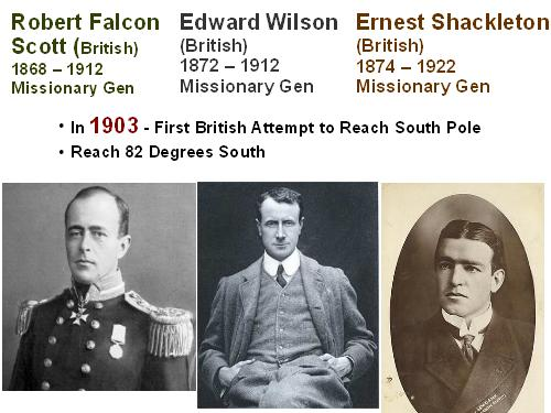 Scott, Wilson, Shackleton: First British Attempt South Pole