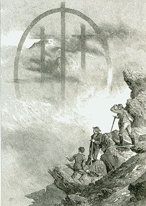 Whymper's Drawing of a Fogbow