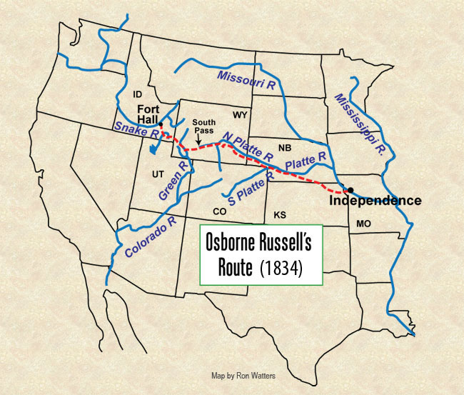 Osborne Russell's Route Out West